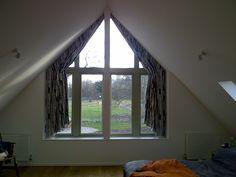 italian strung curtains in apex window | Melissa Hutcheson Soft Furnishings