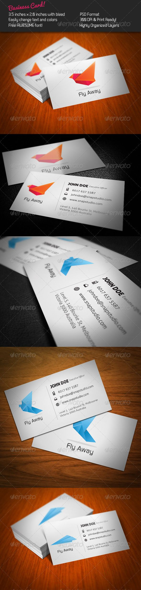Fly Business Card 162 best Print Templates
