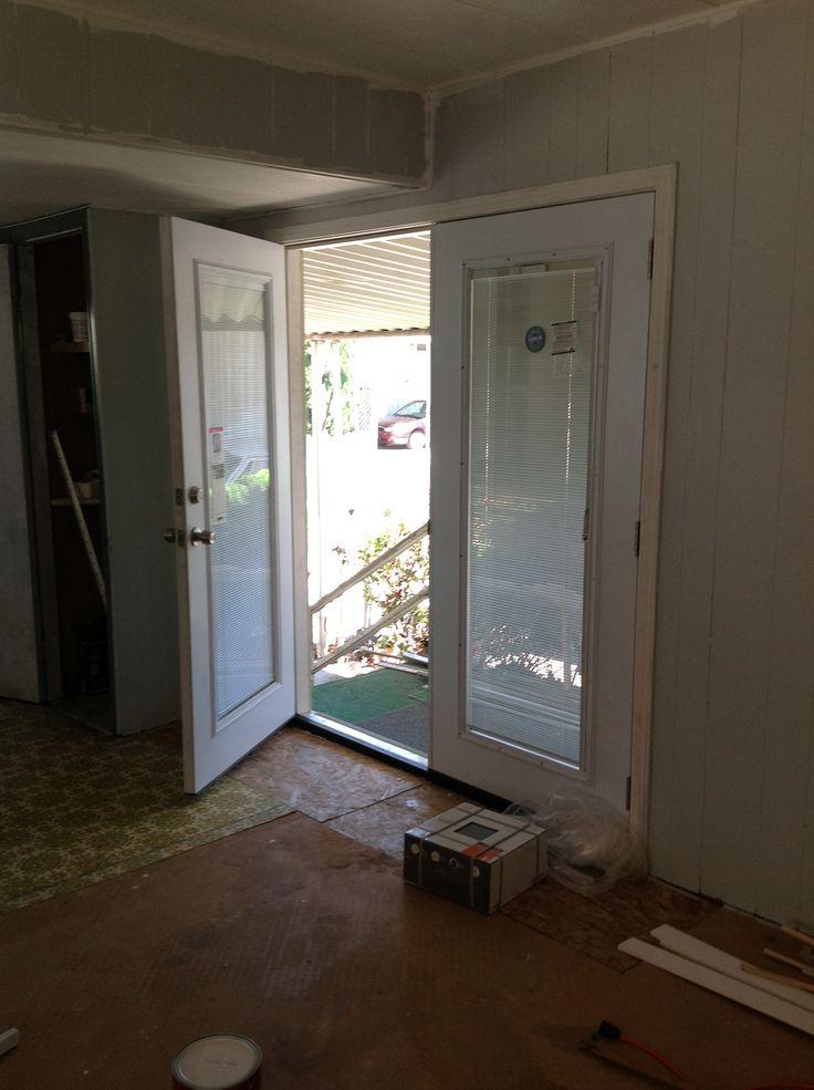 New Double Door Replaces Sliding Glass Broken Door No Pic