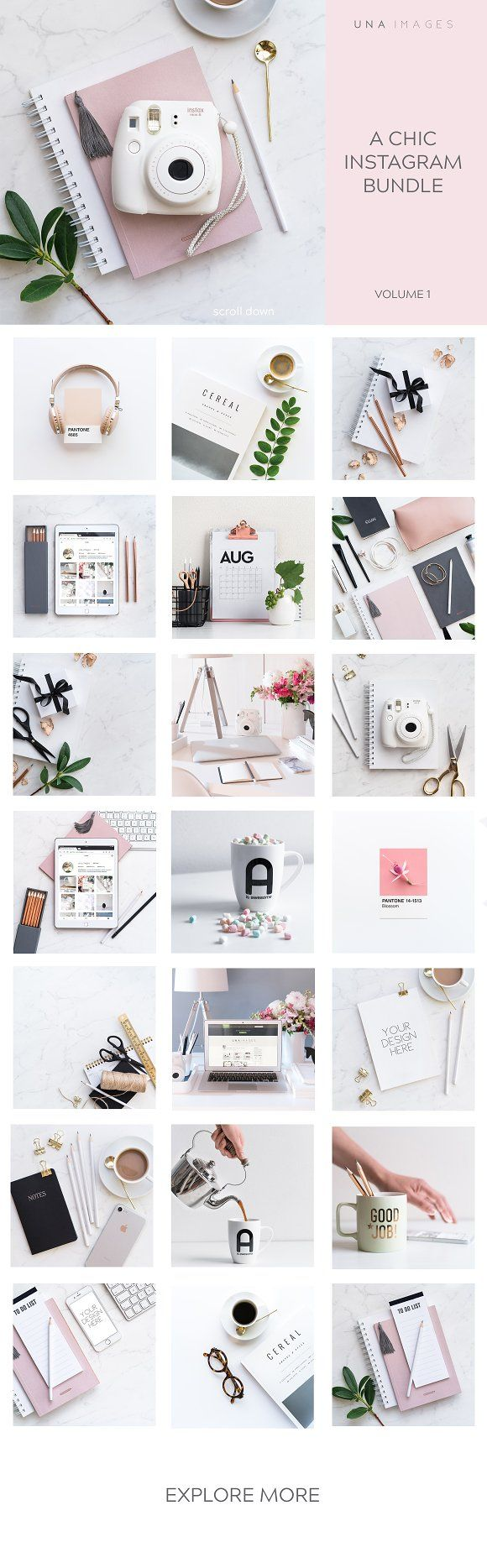 Instagram Photo Bundle by una images on @creativemarket