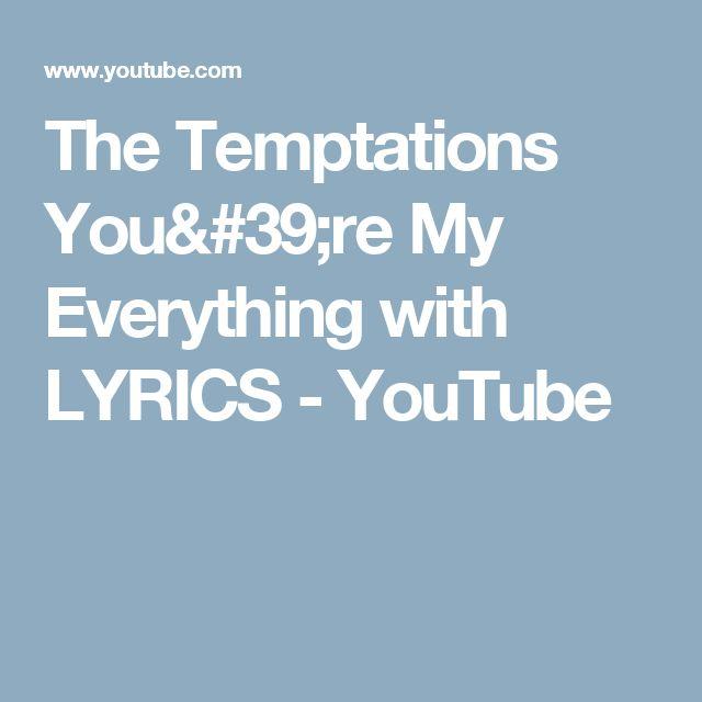 16 best stevie wonder lyrics images on pinterest lyrics music the temptations youre my everything with lyrics youtube stopboris Image collections