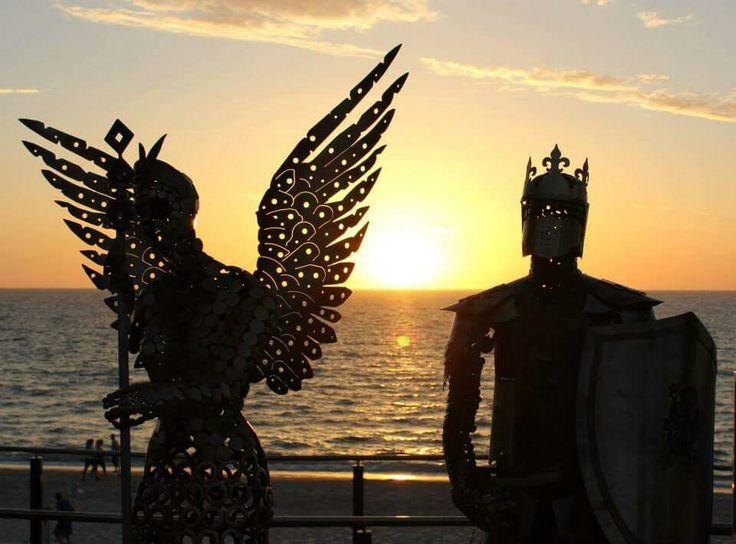 King Arthur metal sculptures by Marc Spurgin