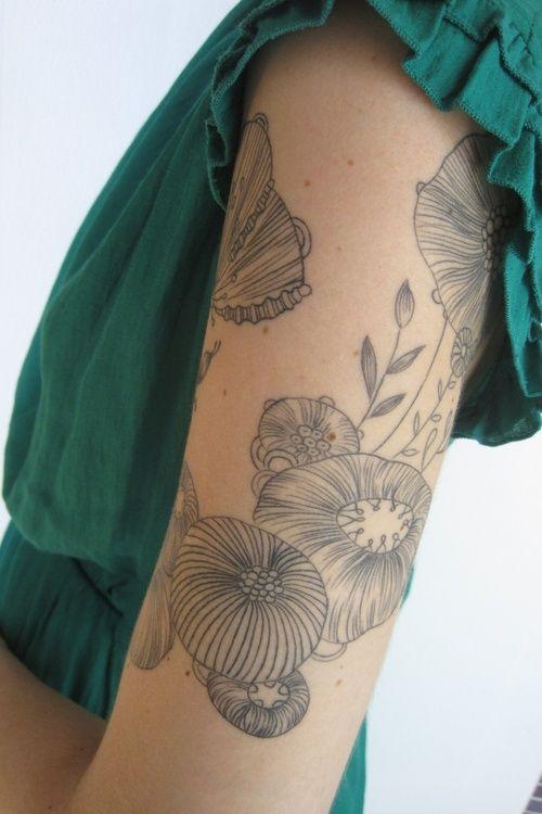 Les 25 meilleures id es concernant tatouage de la m duse - Tatouage trait bras ...