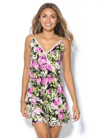 Šaty s prekríženým výstrihom #Modinosk #kvety #dress #saty