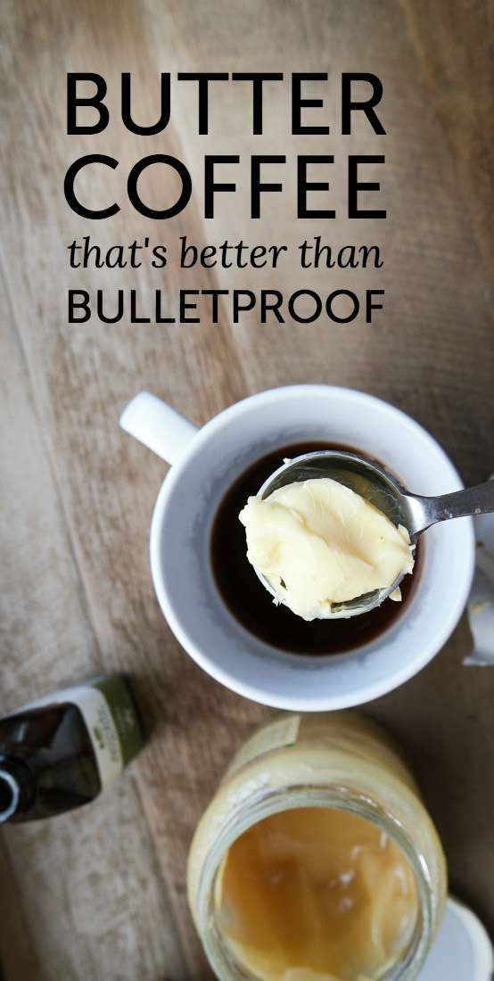 The very best butter coffee in the world. The key is the addition of a couple other ingredients, and it's so easy to make at home. I drink this instead of eating breakfast because it's so rich.