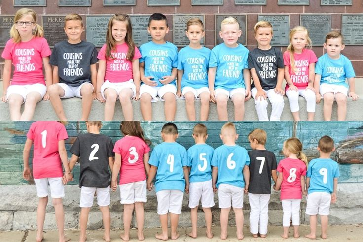 Custom Numbered Cousin Shirts!