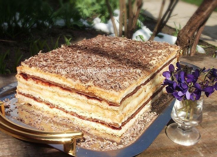 dian@'s cakes: Prajitura Ramona- foi, nuca si crema de vanilie