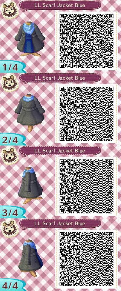 LL Scarf Jacket Blue QR code