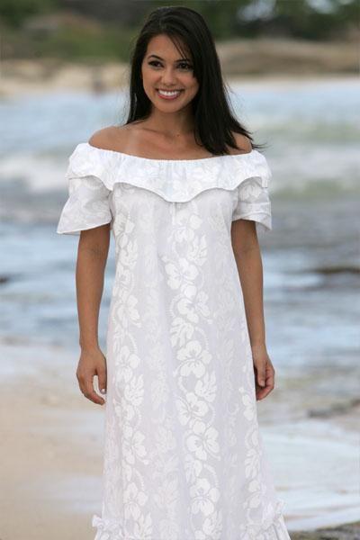 7 best hawaiian dresses images on pinterest hawaiian for Plus size hawaiian wedding dresses