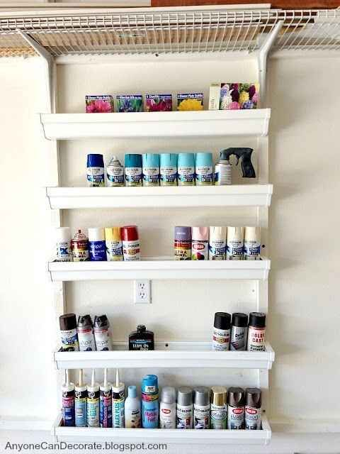 And if you need a place to store your giant spectrum of spray paint cans….