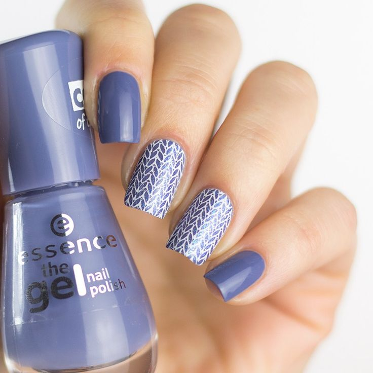 Essence the gel nail polish 80 jeans on! mit Lina Nail Art Supplies Winter 01 Stamping