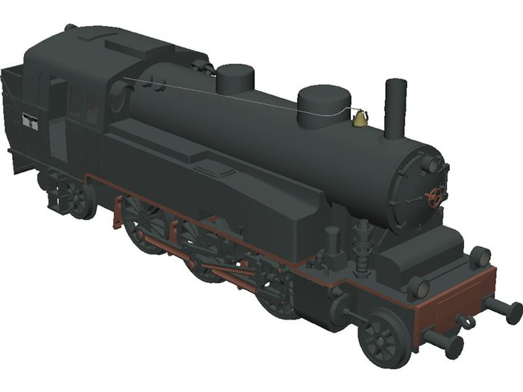 CGI - $0 - CC201 Locomotive 3D Model