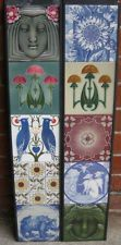 SUPERB ART NOUVEAU / ARTS & CRAFTS FIREPLACE TILES SETS