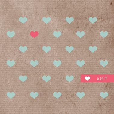 www.hetuilennestje.nl Geboortekaartje Amy Lynn, zusje van Vigo: Geboortekaartje, stoer, strak, modern, craft papier, mint groen blauw, roze, wit, dochter, meisje, zusje, hart/ hartjes. Birthannouncement