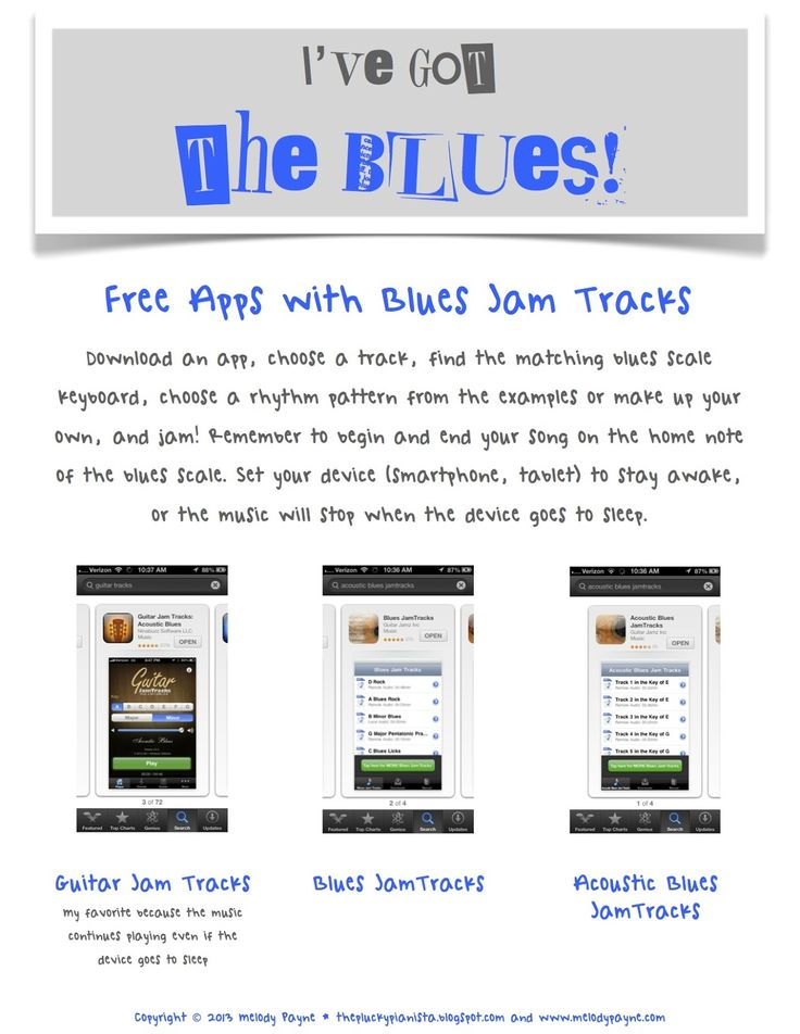 """The Plucky Pianista: """"I've Got the Blues"""" group class - 1 hour lesson plan to blues improv!"""