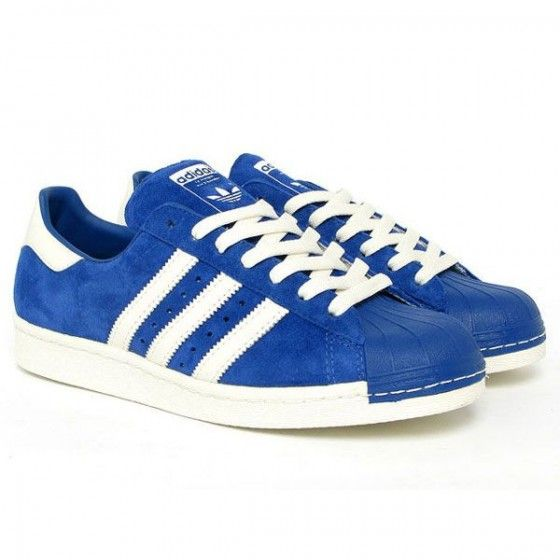 Adidas Superstar White And Blue