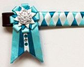 Turquoise, sky and pearl showing browband