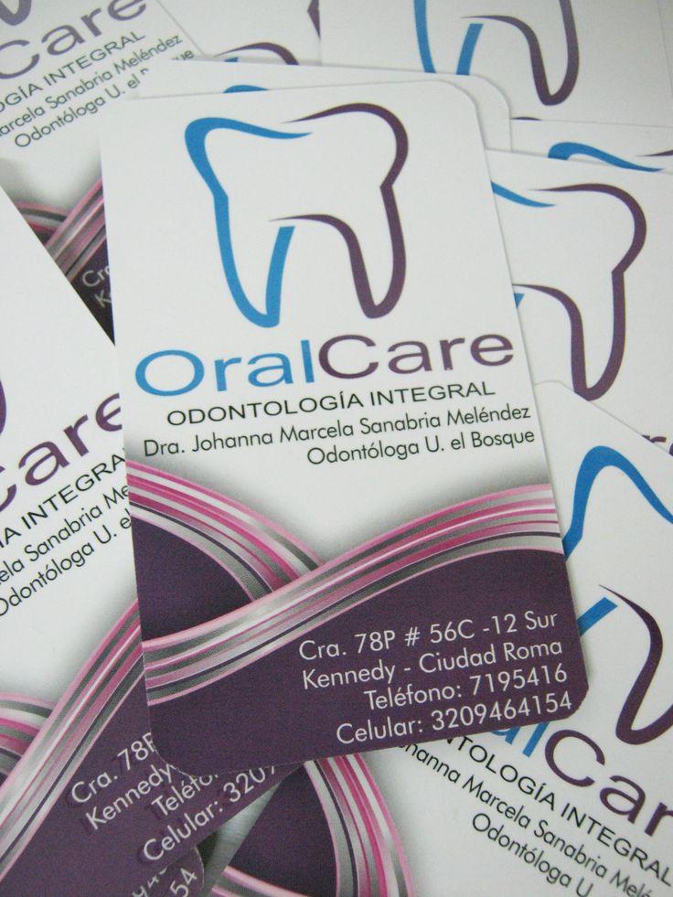 Les comparto el diseño de tarjetas de presentación que realicé para OralCare Odontología Integral Angiee Padilla© 2016 todos los derechos reservados.