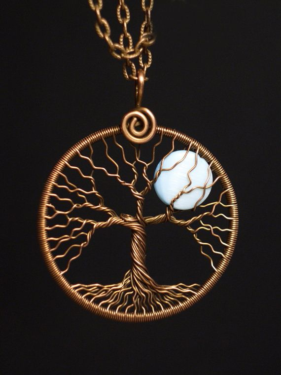 Tree-Of-life pendant Full-Moon necklace Copper Jewelry by MagicWire