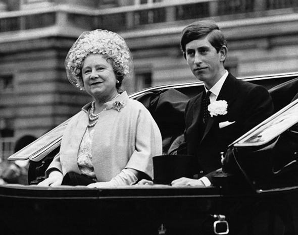Prince Charles and Queen Mother
