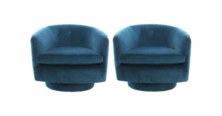 Peacock Blue Swivel Tub Chairs Pair Details Pinterest