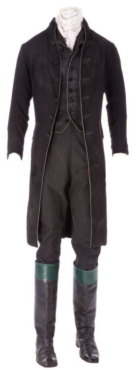 Costume designed by Colleen Atwood for Johnny Depp in Sleepy Hollow (1999).  From Profiles in History