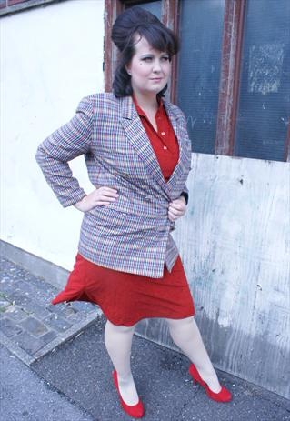 Tweed Jacket size 14-16 cute buttons and great shape