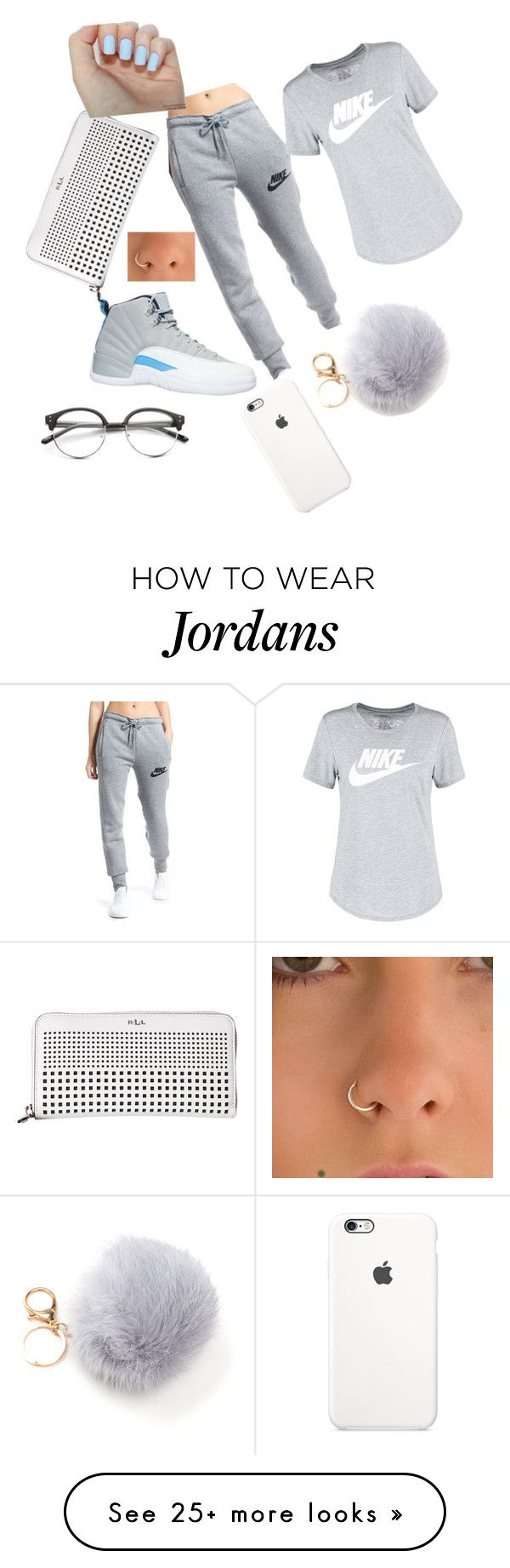 """Jada❤"" by adoreejada on Polyvore featuring NIKE, Lauren Ralph Lauren and…"