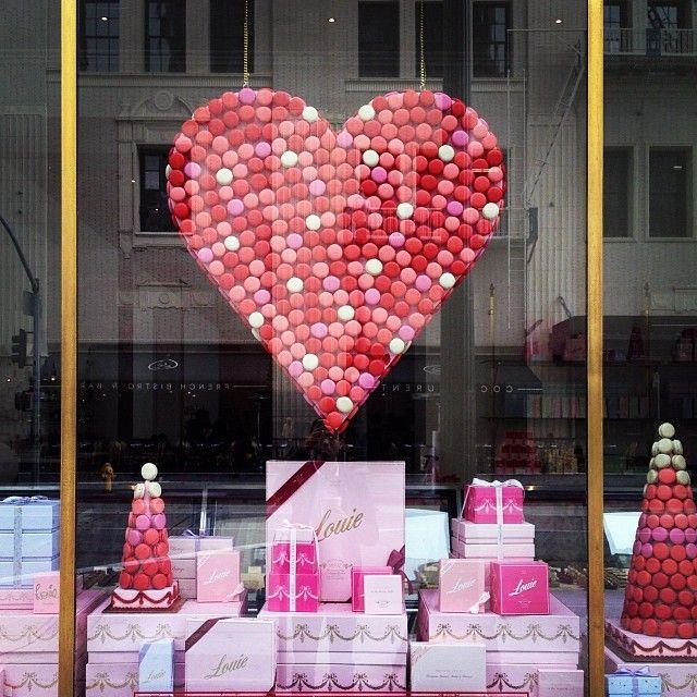 af533bba2955a51d0b4c28f9b0fcc05a bakery window display window displays - Bottega Louie Valentine's Day Display