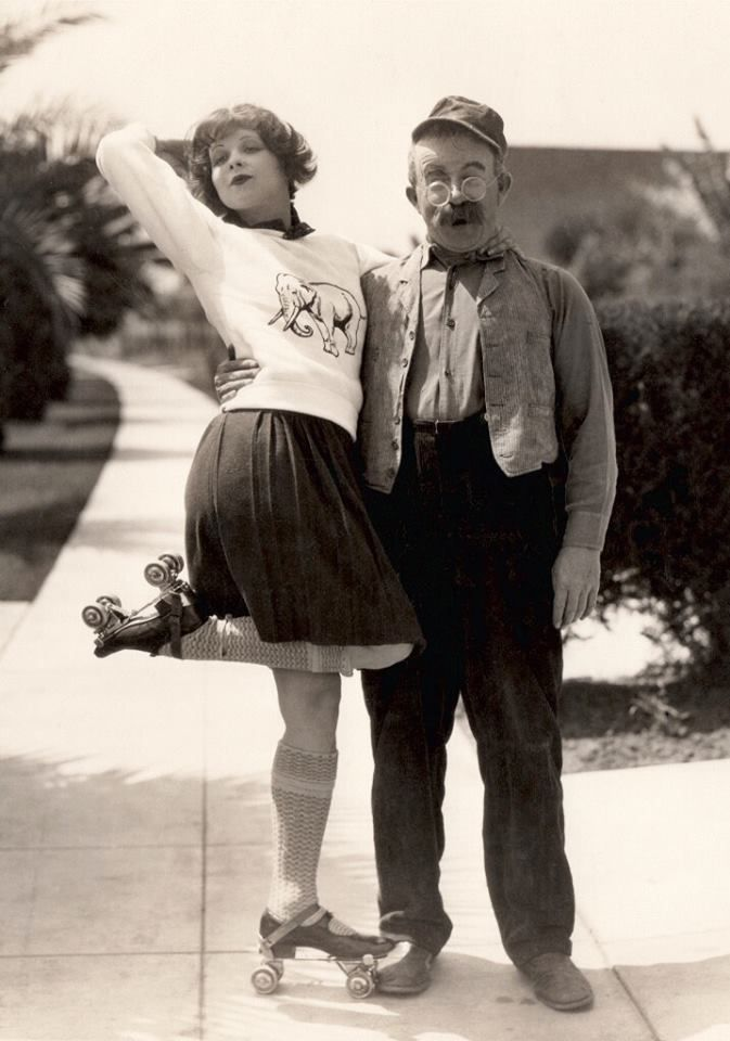 Clara Bow and Chester Conklin 1927