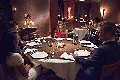 Brandon Routh, Rick Cosnett, Grant Gustin, Candice Patton, and Emily Bett Rickards in The Flash (2014)