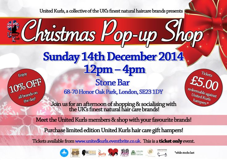 United Kurls Christmas Pop Up Shop December 14 2014! www.unitedkurls.co.uk Buy your tickets here: http://www.eventbrite.co.uk/e/united-kurls-christmas-pop-up-shop-tickets-14275178443