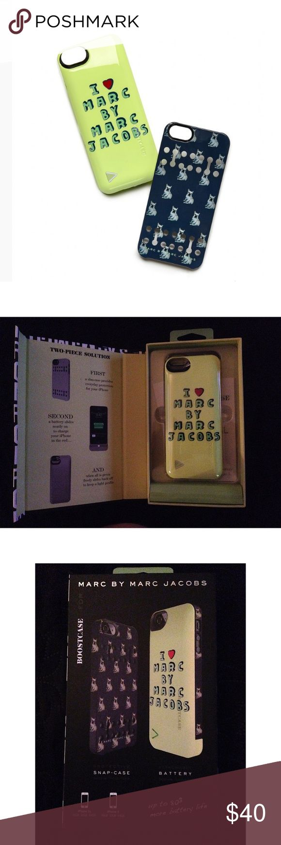 🎃FALL SALE🎃 Marc Jacobs iPhone5/5s boost case Marc by Marc Jacobs iPhone5 / 5s Boost case: French BullDog iPhone 5/ 5s case  Gives you 80% more battery power.   Brand new in retail packaging.   Case charges your iPhone and the battery case simultaneously. You don't need your original iPhone cable to charge your phone! Marc by Marc Jacobs Other