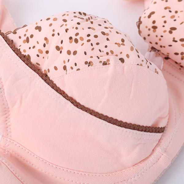 Cotton Soft Printed Front Button Breastfeeding Maternity Bra at Banggood