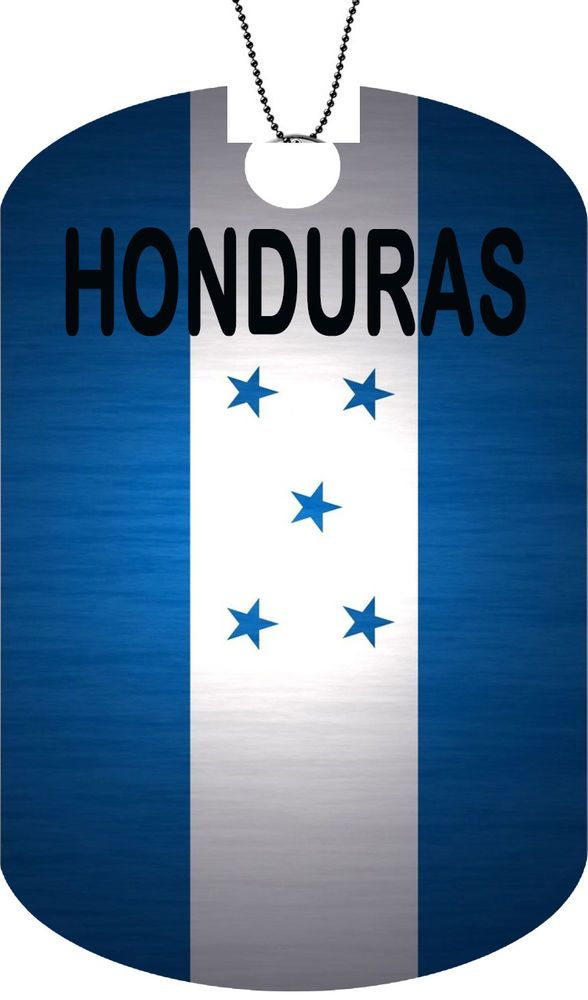 HONDURAS flag Adult Dog Car Tag Chain Necklace Personalized Metal Version  #FastServiceDesigns #DogTag