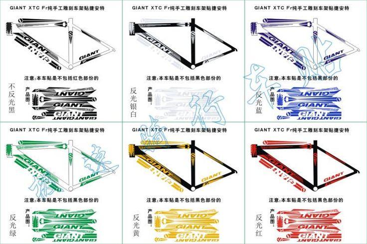 [Visit to Buy] New Road bike mountain Giant XTC FR frame decal bisiklet aksesuar reflective sticker lightning DIY MTB bisiklet bicycle stickers #Advertisement