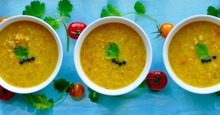 Dhal à la courge, patate douce et carotte - Tout doucement épicé, ce dhal bien réconfortant et regorgeant de vitamines saura plaire à toute la famille !