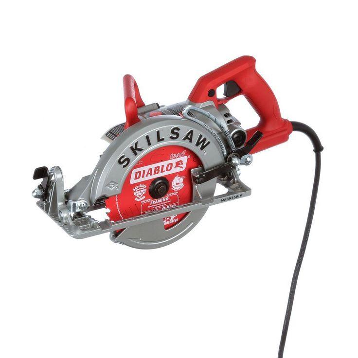 SKILSAW 15 Amp Corded Electric 7-1/4 in. Magnesium Worm Drive Circular Saw with 24-Tooth Carbide Tipped Diablo Blade-SPT77WM-22 - The Home Depot