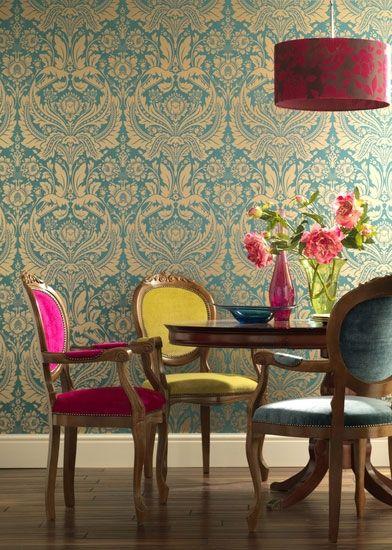 Desire: Teal Wallpaper Elixir Graham & Brown | Elixir Graham & Brown