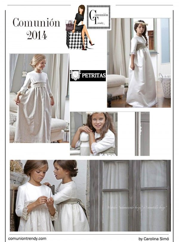 Petritas, Vestidos Comunión 2014, Trajes de Comunión, Marca Moda Infantil, Comunión Trendy