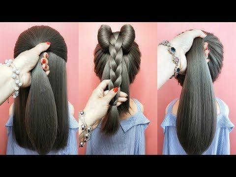 Top 5 tutoriels de coiffures rapides et faciles pour les filles! Des coiffures pour l'école! # 1 - YouTube #Easyhairstyles