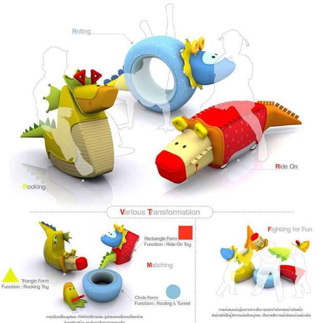 Dinoactive - First Prize_BIG Toys Design Award 2006 Department of Export Promotion Thailand Toy Design Multi-Function