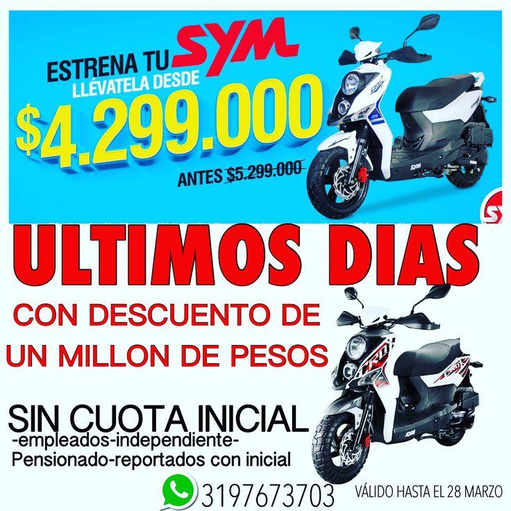 PREAPROBACION EN 15 MINUTOS SIN INICIAL ...  •Empleados •Independientes •Pensionados • REPORTADOS EN DATACREDITO POR BANCOS TARJETAS DE CRÉDITO Y CARTERA CASTIGADA CON CUOTA INICIAL Carrera 22#24-57 Frente a la Bomba san antonio Via Chipre WHTSP :3197673703 CELULAR : 3225571548 TELEFONO:8887488  #caldas #manizales #ejecafetero #motossym #motoroad #motoroadmanizales #motosmanizales #motosfinanciadas #scootermanizales