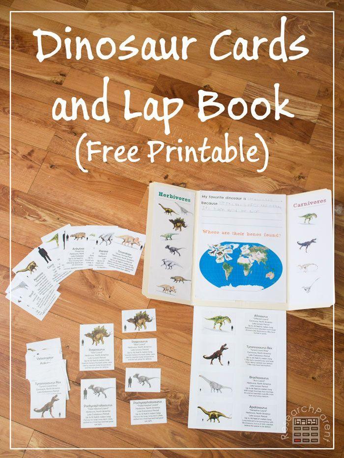Free, Printable Dinosaur Cards and Lap Book | Dinosaurs ...