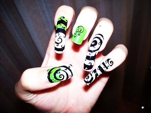 ... Nightmare Before Christmas Nail Art - Nightmare Before Christmas Nail