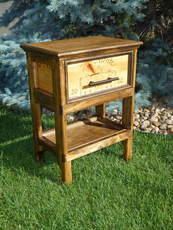 Far Niente Wine Crate Colonial Single Drawer Chest