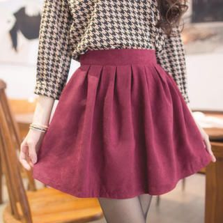 Elastic-Waist Pleated A-Line Skirt  from #YesStyle <3 Tokyo Fashion YesStyle.com