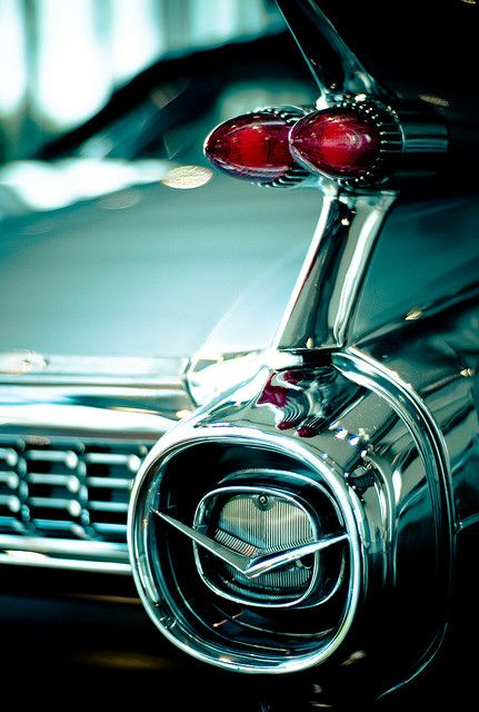 Fins like this only found on the 1959 Cadilac- one of my dads dream cars the coupe deville to be exact