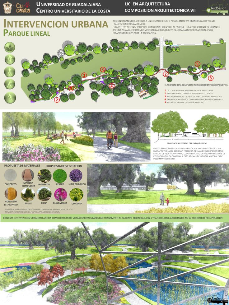 Intervencion urbana | Prolongacion parque lineal integrado al hospital | Ark Design Arquitectos