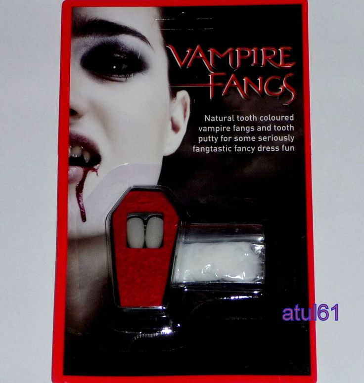 Vampire fangs #dracula #teeth caps & putty #halloween fancy dress vamp #teeth,  View more on the LINK: 	http://www.zeppy.io/product/gb/2/371168613977/